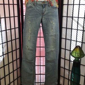 Arizona Distressed Jeans Straight Size 5